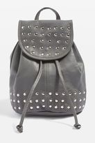 Topshop Leather Studded Mini Backpack