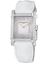 Baume & Mercier Baume Mercier Women's 10025 Hampton Ladies Leather Strap Diamond Dial Watch