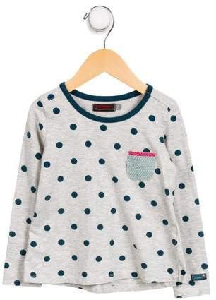 Catimini Girls' Polka Dot Knit Top
