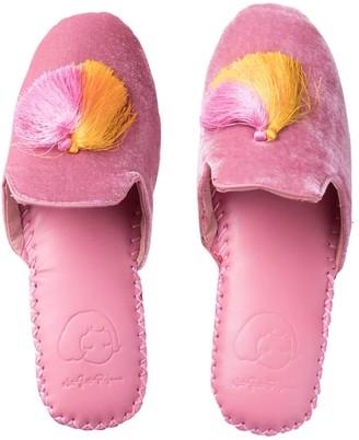 Not Just Pajama Women's Classic Velvet Slippers - Pink
