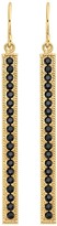Anna Beck 18K Gold Plated Sterling Silver Black Onyx Stone Pave Stick Drop Earrings