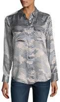 Equipment Slim Signature Printed Silk Shirt