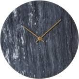 Amalfi by Rangoni Marcella Marble Wall Clock, Black, 30cm