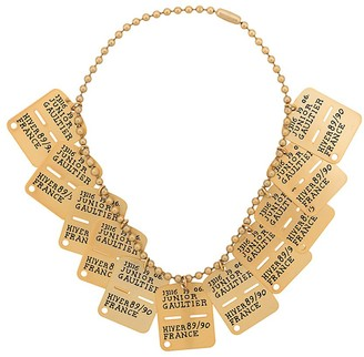 Jean Paul Gaultier Pre-Owned army tag necklace