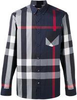 Burberry longsleeve checked shirt - men - Cotton/Polyamide/Spandex/Elastane - XS