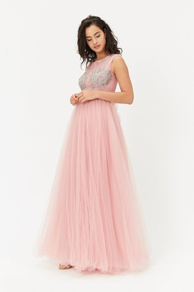 Coast Diamante Tulle Maxi Dress