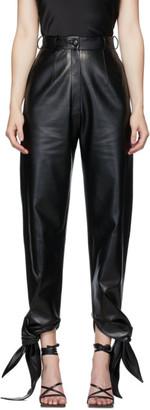 MATÉRIEL Black Tie-Bottom Trousers