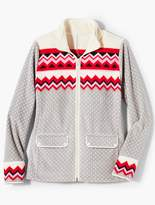 Talbots Chevron Fleece Jacket