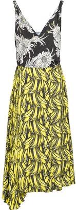 Prada Banana-Print Midi Dress