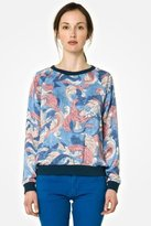 Lacoste L!VE 3/4 Sleeve Printed Sweatshirt