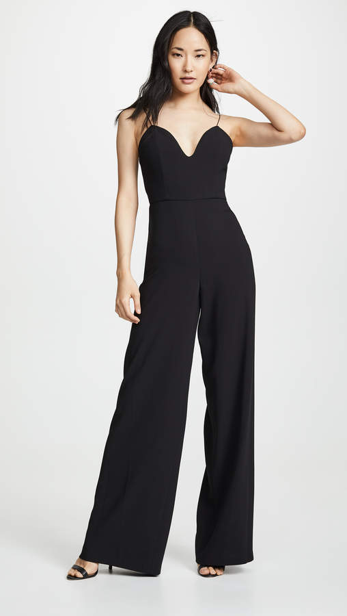 Alice + Olivia Lina Deep Sweetheart Jumpsuit