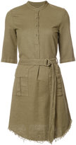 Raquel Allegra belted utility dress