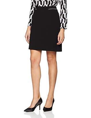 S'Oliver BLACK LABEL Women's 11.811.78.6352 Skirt, Black 9999, 14 (Size: )