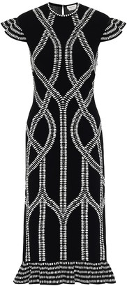 Alexander McQueen Jacquard knit midi dress