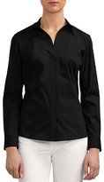 Lafayette 148 New York Katie Side-Zip Blouse, Plus Size