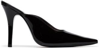 Dorateymur black Groupie 100 patent leather mules
