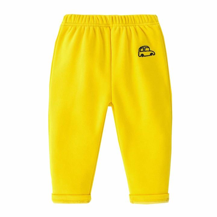 Zerototens Boys Kids Thicken Sweatpants Soft Plush Lining Elastic Waist Casual Jogging Bottoms Cartoons Car Print Trousers Jogger Sports Long Pants Age 1-6 Years