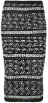 Roland Mouret fitted patterned skirt