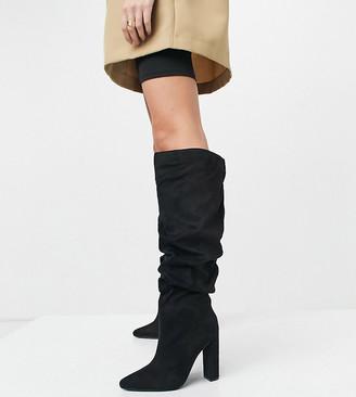 Z Code Z Wide Fit Z_Code_Z Wide Fit Vanda slouch knee boots in black