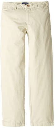 Polo Ralph Lauren Kids Slim Fit Cotton Chino Pants (Big Kids) (Basic Sand) Boy's Casual Pants
