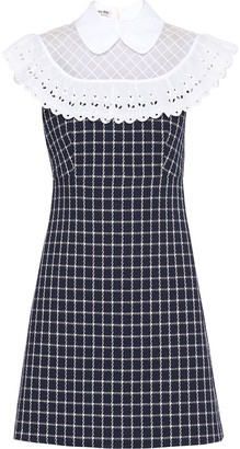 Miu Miu Lace Check Print Dress