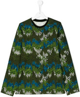 John Galliano teen long sleeve printed T-shirt