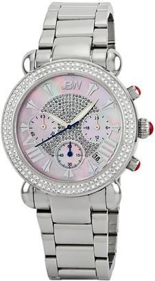 JBW Women's Victory Diamond & Crystal Watch