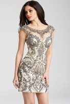 Jovani 54548 Intricate Beaded Illusion Short Dress