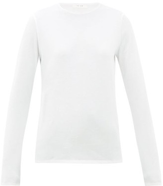 The Row Tabor Cotton Long-sleeved T-shirt - White