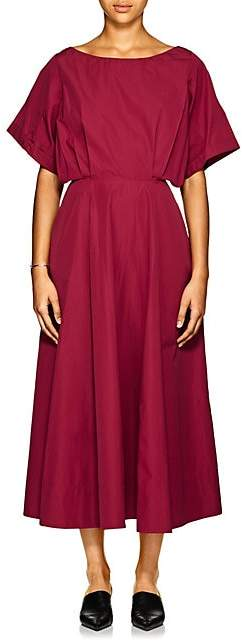 Derek Lam Women's Cotton Sateen Midi-Dress - Plum
