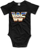 Barkono Short Sleeve Bodysuits WWF Logo