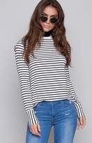 The Fifth Label The Fifth Shine By Long Sleeve Top Black White Stripe