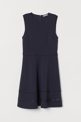 H&M Dress with Lace Bands - Blue