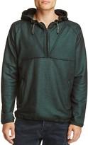 Scotch & Soda Metallic Half-Zip Pullover Hoodie Sweatshirt