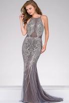 Jovani Embellished Halter Neckline Pageant Dress 45571