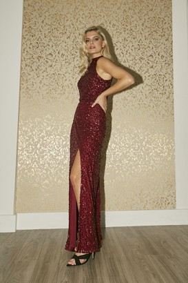 Little Mistress Nicky Berry Sequin Maxi Dress