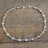 India Sterling Silver Ankle Jewelry, 'In Diamonds'