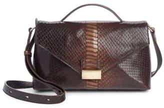 Dries Van Noten Snake Embossed Leather Shoulder Bag