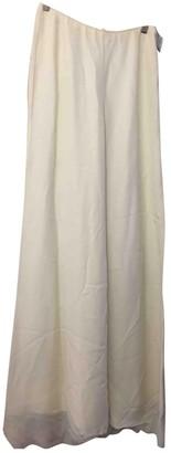 Bill Blass Beige Silk Trousers for Women
