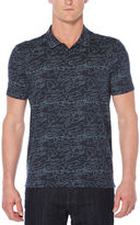 Perry Ellis Short Sleeve Print Map Outline Polo