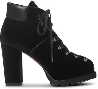 Alaia Velvet trecking boots