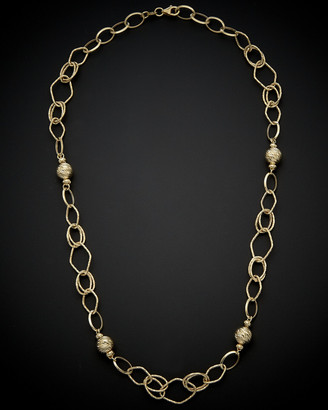 Italian Gold 14K Ball Station Necklace