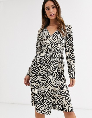 UNIQUE21 animal print wrap dress