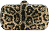 Judith Leiber Couture New Soap Leopard Clutch Bag