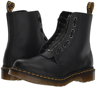 Dr. Martens 1460 Pascal Front Zip (Black Nappa) Women's Boots