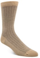 Cole Haan Geo Pattern Crew Socks