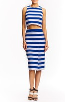 Nicole Miller Poppy Striped Crop Top