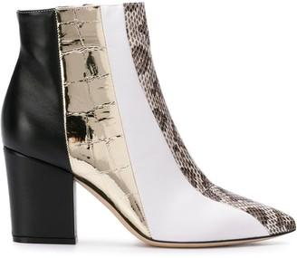 Sergio Rossi 80mm colour block boots