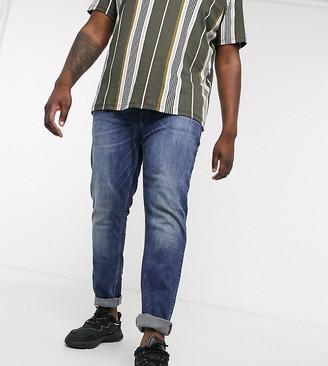 Burton Menswear Big & Tall skinny jeans in blue wash