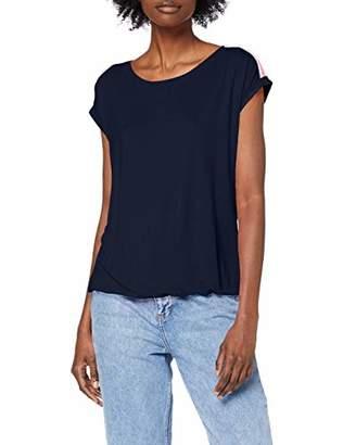 Tom Tailor Women's 1010726 T-Shirt, (Real Navy Blue 10360), S